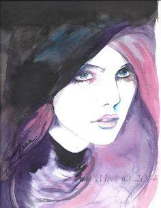 Paris Fashion Original Watercolor Illustration - Watercolor Painting Titled: Parisian Chic