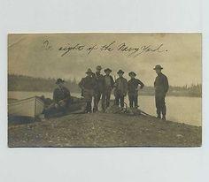 1907-RPPC-Bremerton-WA-Washington-Postcard-Hunt-Hunters-Hunting-Fishing-bz193