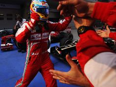 Celebration time for Fernando and Ferrari courtesy of Sky Sports F1 - 2013 Chinese GP