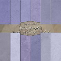 Purple-Blue digital paper pack created using a grunge effect.  $3.95  #digital paper, #grunge, #texture, #download, #blue, #purple, #scrapbooking, #background, #card making