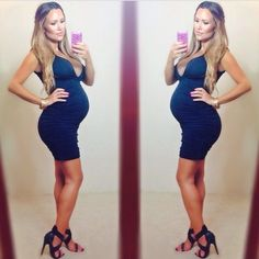 Not sure I'd wear this, but brownie points to this girl for looking hot and preggers. I'm inspired.