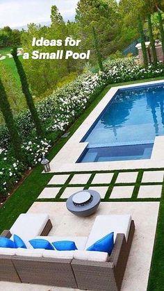 Backyard Pool Landscaping, Backyard Pool Designs, Small Backyard Pools, Backyard Garden Design, Swimming Pools Backyard, Inground Pool Designs, Small Swimming Pools, Diy Pool, Modern Backyard