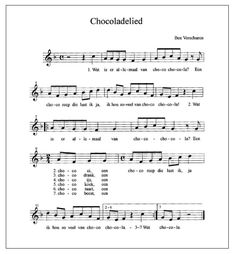 Idee Kids Schoten blogt: Pasen 2: het chocoladelied! Learn Dutch, Sheet Music, Chocolate, Learning, School, Studying, Chocolates, Teaching, Brown