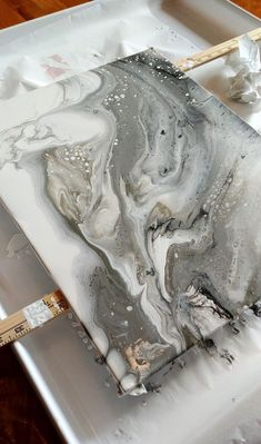 Gray Marble Acrylic Pour - Painting Ideas - What is Your Painting Style? - Gray Marble Acrylic Pour – Painting Ideas – What is Your Painting Style? Marble Painting, Marble Art, Pour Painting, Acrylic Paintings, Gray Marble, Encaustic Painting, Flow Painting, Painting Canvas, Art Paintings