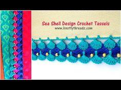 Seashell Design Crochet Tassels | Most Awaited Tutorial | Festival Spl Design| www.knottythreadz.com - YouTube