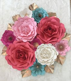 Large Paper Flower Backdrop/Nursey DecorCustomize your