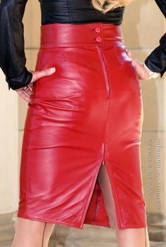 Eleganz Pur - Pencil Skirt mit Schlitz hinten - CLC-Leather Unser meistverkaufter Lederrock!