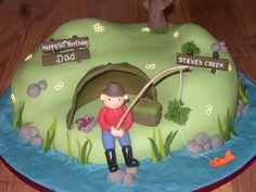 fishing theme birthday decorations | Fishing Inspired Novelty Birthday Cake | Susie's Cakes