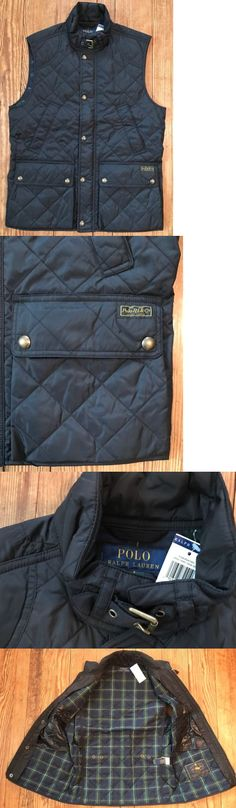 Vests 15691: Nwt Men S Polo Ralph Lauren Diamond Quilted Black Vest Sz Xxl -> BUY IT NOW ONLY: $83.99 on eBay!