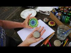 Mandala Painted Stone by MagaMerlina - Mandala Painted Pebble. - YouTube