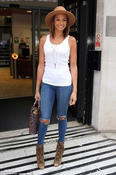 Hard at work: Alesha Dixon was seen hitting London's BBC Radio Two Studios on Friday morni...