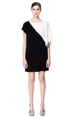 ZARA ss13: vestito bicolore asimmetrico
