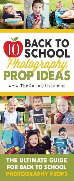 Soooo many cute prop ideas for a back to school photo shoot! Such a good resource! Pinning for later! www.TheDatingDivas.com