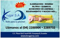 Krugar S.A. Piscinas y Jacuzzis: de todo en equipamiento y accesorios, visítanos en el Centro Comercial Plaza Quil (frente al Policentro) local #20, aprovecha nuestras increíbles ofertas!  #piscinas #bombasdeagua #plazaquil #guayaquil #ecuador #jacuzzis #enviogratis