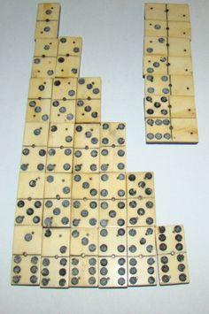 dominoes form 1800s ebony and wood