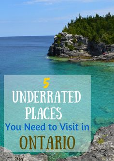 #Ontario has a handful of unique destinations scattered throughout the province, you just have to find them. These five underrated places are refreshing to Ontarians and visitors alike as they aren't as too busy or popular.
