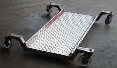 Shop Creeper, by C. Maurer All aluminum shop creeper. I built it because I was tired of creepers wit Diy Welding, Welding Table, Welding Design, Welding Crafts, Garage Tools, Garage Workshop, Metal Projects, Welding Projects, Welding Ideas