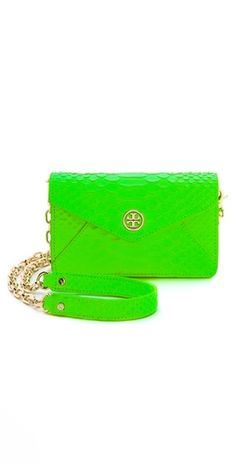 get the pop of neon look from veryallegra.com with this Neon Tory Burch Cross Body Bag