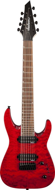 Jackson Guitar - JS328Q Dinky Electric Guitar Transparent Red