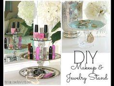 DIY Jewelry Stand & Lipstick Holder! ❤ Dollar Store Crafts - YouTube