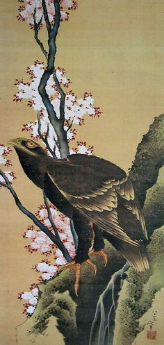 KATSUSHIKA Hokusai(葛飾北斎 Japanese, 1760-1849)  Eagle and Cherry Blossoms 鷲に桜図   More