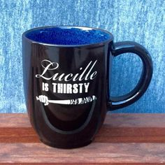 Colorful Coffee Mug with Walking Dead Design, Lucille is Thirsty