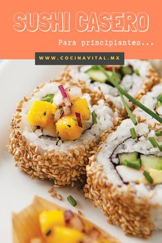 9 homemade sushi recipes for beginners you will love - Baby Food Recipes, Food Network Recipes, Great Recipes, Dinner Recipes, Cooking Recipes, Healthy Recipes, Healthy Food, Sushi Recipes For Beginners, 1960s Food