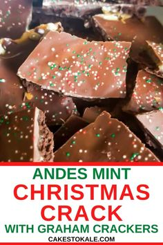 Andes Mint Christmas crack is made with graham cracker and andes mints. Learn how to make this easy Christmas Crack recipe. Try the best every Christmas cracker candy. #christmascrack #andesmint #grahamcrackers