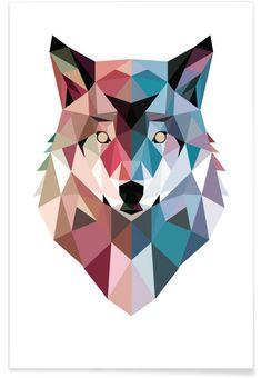Geometric modern art prints art by hue Modern Art Prints, Framed Art Prints, Animal Drawings, Art Drawings, Tableau Pop Art, Wolf Poster, Triangle Art, Polygon Art, Creation Art