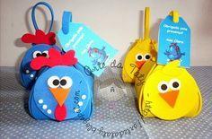 02 Modelos de lembrancinhas da galinha pintadinha feitos de EVA - Dicas pra Mamãe