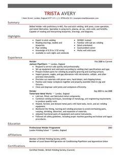 Welder Resume Format In Word Resume Examples Basic Resume Examples Resume Format In Word