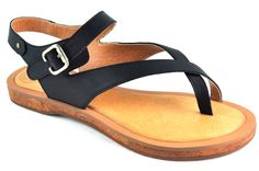 Montana. Add a sexy vibe to your casual everyday look with this pair of sandals. Features a classic leather thong strap on the front  and an ankle strap that secures with a buckle. This versatile pair will go with many different outfits and is comfortable enough round the clock wear.
