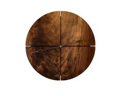 Joinery Round Clock - Home Decorating Trends Rustic Wall Clocks, Wood Clocks, New Year's Crafts, Metal Clock, Modern Clock, Diy Clock, Wooden Diy, Minimalist Home, Wood And Metal