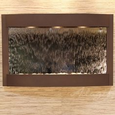 Adagio Fountains Calming Waters Natural Stone/Metal Wall Fountain with Light Finish: Woodland Brown, Stone: Silver Mirror Indoor Waterfall Wall, Indoor Waterfall Fountain, Water Wall Fountain, Indoor Wall Fountains, Water Fountains, Top Fontes, Feng Shui, Nova Deli, Indoor Water Features