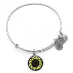 Alex & Ani Sunflower Charm Charity by Design Bangle... Benefiting Alzheimer's Association