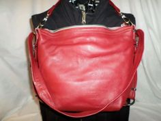 MIMS red leather 3-in-1 purse PETITE HOBO Pack Backpack shoulder bag