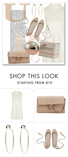 """""""Fun Fall Fragrance"""" by andrejae ❤ liked on Polyvore featuring Topshop, Chloé, Bebe, DKNY and fallperfume"""