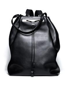 729df3d6c713 NMS16 V29G1 Black Leather Backpack