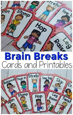 Preschool Brain breaks for the classroom. Brain breaks for kids. Brain breaks for any occasion! These brain break cards and printables are fun, fast, and easy to follo… - Preschool Children Activities Physical Education Activities, Gross Motor Activities, Therapy Activities, Preschool Activities, Health Education, Elderly Activities, Dementia Activities, Music Activities, Games For Kids Classroom