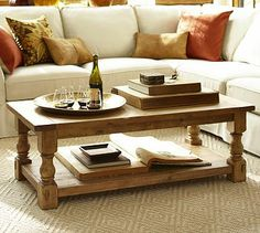 Cortona Coffee Table from Pottery Barn. Saved to home. Shop more products from Pottery Barn on Wanelo. Furniture Upholstery, Living Room Furniture, Home Furniture, Furniture Ideas, Coffee Table Pottery Barn, Barn Living, Buying A New Home, Decorating Coffee Tables, Do It Yourself Home