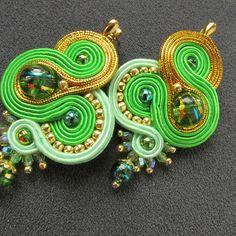 Soutache Earrings Stud Earrings Earring Studs Ear Studs Beaded