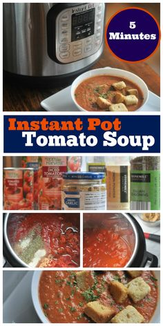 This Instant Pot Tomato Soup recipe is super easy to make and takes just a few ingredients. It makes a delicious creamy tomato soup that is perfect for a family-friendly dinner or a special meal to share with others.
