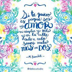 Hoy es #martesdecursileria  #illustration #ilustracion #floral #benedetti #love #debcustudio