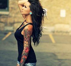 Tattoo Ideen für Frauen - Full Sleeve