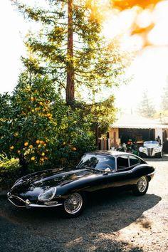 Jaguar E-Type , one of the legends of car design. Best Picture For Vintage Cars corvette For Your Retro Cars, Vintage Cars, Antique Cars, Classic Sports Cars, Classic Cars, Jaguar E Type, Black Jaguar, Jaguar Cars, Amazing Cars