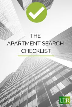 Today on the Blog: The Apartment Search Checklist
