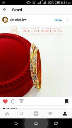 Gold Bangles, Bangle Bracelets, Indian Designer Wear, Jewelry Design, Jewellery, Jewels, How To Wear, Fashion, Bracelets