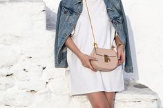 Chloe Drew Bag mini in cement pink ass seen at Stella Asteria | Fashion