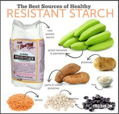 It's likely you've heard that starchy foods are something to avoid. As a general rule of thumb this makes sense because most starchy foods are packed with simple carbohydrates. They're highly processed highly refined and dont offer much fiber. Yam Or Sweet Potato, Raw Potato, Resistant Starch Foods, Healthy Starch, Starch Solution, Healthy Carbs, Healthy Food, Healthy Tips, Healthy Meals