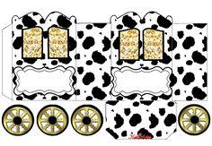 Cows: Princess Carriage Shaped Free Printable Box.
